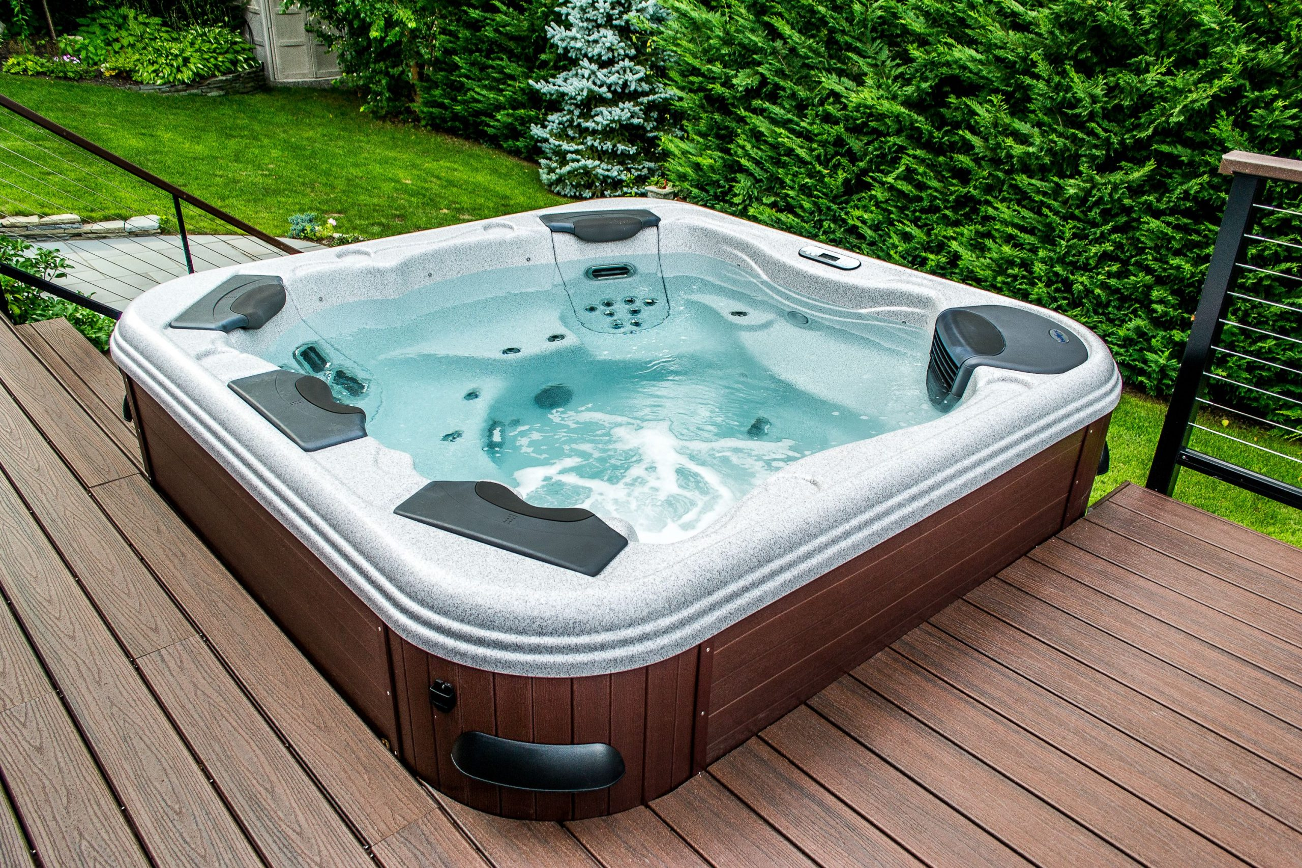 Pools Spas Hot Tubs Patios Hardscapes More A Backyard Creation